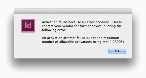 Activation Failed