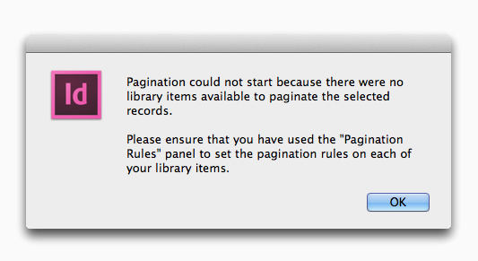 EasyCatalog Pagination could not start error