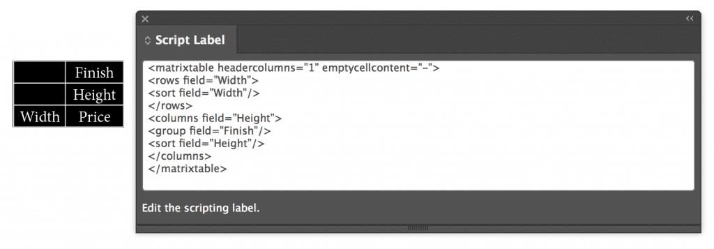 Matrix Tables | 65bit Software
